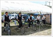 写真:自転車発電